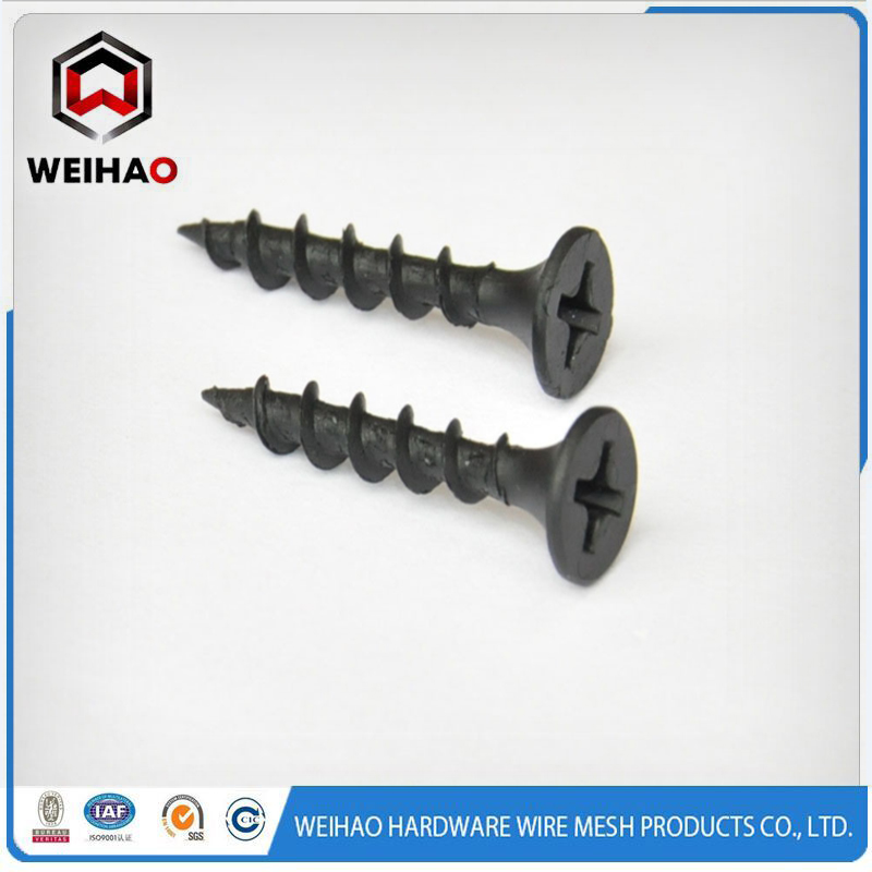 Black Phosphated fine thread Drywall Screw