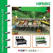 supermarket vegetable crates and display racks