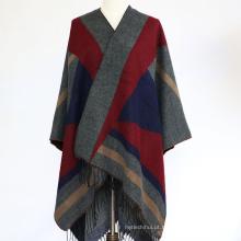 2017 novas mulheres da moda inverno muitas cores ponchos de grandes dimensões