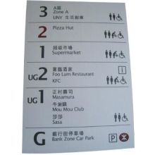 Supermarket Aluminium Notice Floor Display Shelf Signage