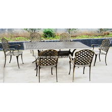 Metal Patio Garden Outdoor Dining Set Cast Aluminium Furniture