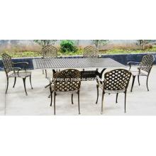 Refeições ao ar livre do jardim do pátio de metal conjunto de móveis de alumínio fundido