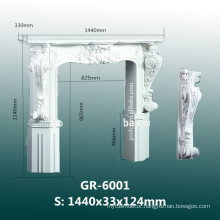 modern carved polyurethane fireplace