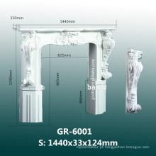 Best-Selling casa decorativa mão esculpida em poliuretano Fireplace Frame