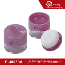best popular cosmetic loose powder container with sponge puff