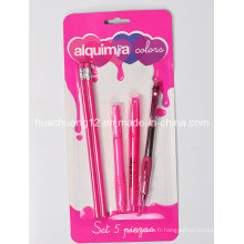 Set de papeterie 5PCS / Set de crayons de papeterie promotionnel (AU107)