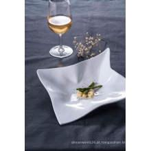 Melamina prato quadrado / melamina alimentos prato padrão (wt4131)