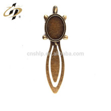 Wholesale cheap custom tortoise shape antique bronze metal bookmark for books