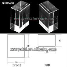 K9 Leer Crystal für 3D Lasergravur BLKD496