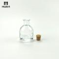Haushalt 100ml Halbkreis Glas Reed Diffusor Aroma Flasche mit Kork