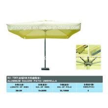 Parapluie de patio de pôle carré de couverture de forme carrée (YSBEA0017)