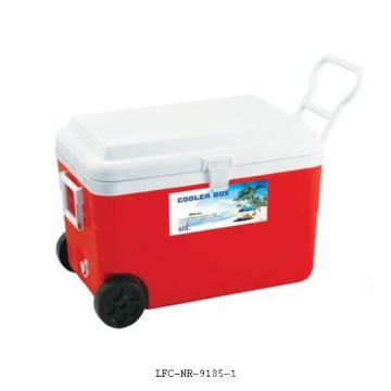 Refroidisseur isolé de plastique de loisirs de roue de boîte de refroidisseur de glace 60L