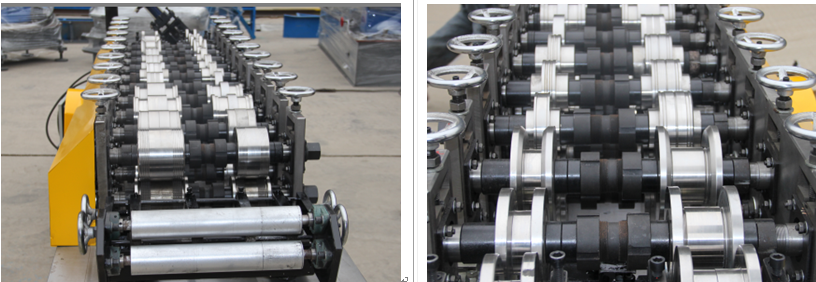 The rollers of the ceiling machine line
