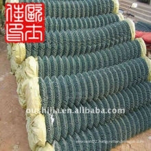 wire fence of chain link mesh&tension wire chain link fence&pvc coated chain link fence