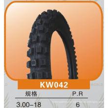 patrón cruzado de neumático de la motocicleta de carretera 3.00-18 elección de calidad