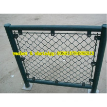 PVC côtelé Durk Green Chain Link Fencing