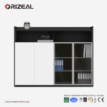 Armarios de madera ORIZEAL de alta calidad de los muebles de oficinas de la oficina con la puerta de cristal