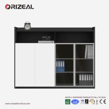 ORIZEAL высококачественной офисной мебели деревянные шкафы со стеклянной дверью