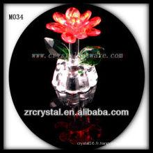 K9 Fleur en cristal rouge