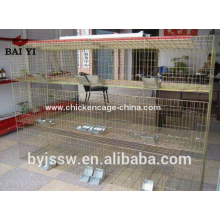 Кролик-товарной фермы Кроличьи садки для продажи, дешевые galvanized Сварило ячеистую сеть клетки кролика