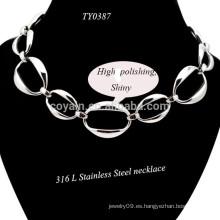 2015 Simple plata de moda plateado collar de cadenas para las mujeres