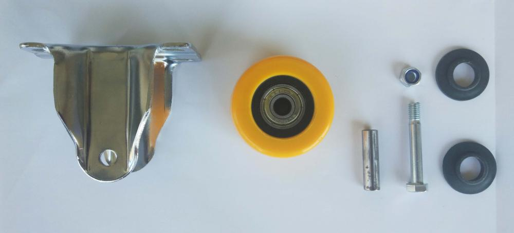 Parts Of 2 Pu Fixed Caster Wheel