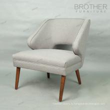 Chaises longues confortables de chaise française de tissu français