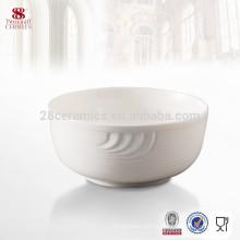Cuenco de cerámica blanco redondo directo al por mayor directo