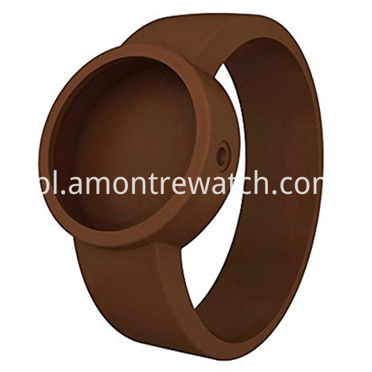 inchangable watch strap brown colour
