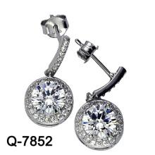 Los últimos estilos cultivaron los pendientes de la perla plata 925 (Q-7852. JPG)