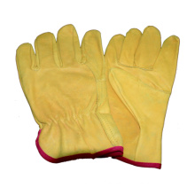 Beige Cow Grain Driver Glove, Work Leather Glove
