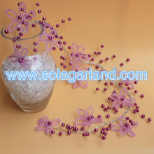 Crystal Bicone Garland Wire Pearl Beaded Branch