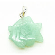 fish Shape Green Aventurine pendant
