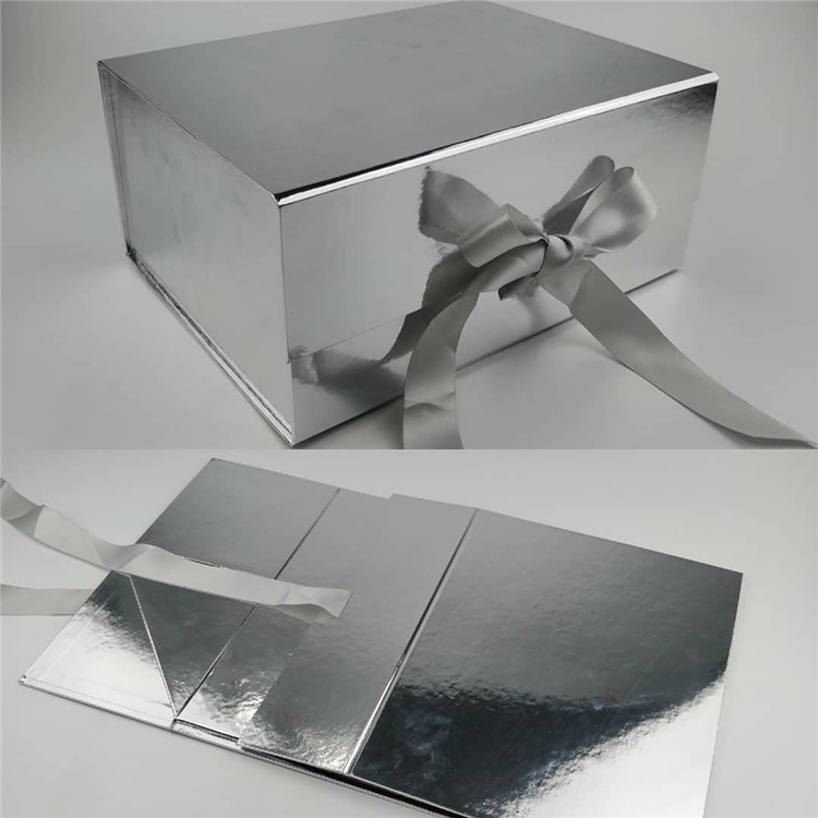 Glitter Packaging Foldable Paper Box With Magnet Closure