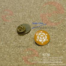 Insigne fait sur commande de broche en métal de cercle rond en fer ou en laiton d'impression d'écran