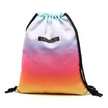Sport Sac Drawstring Gradient Gym Training Cord Bag Outdoor Running Sack Backpack