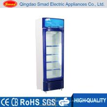 Upright monocristalino de la puerta de la exhibición de la exhibición del refrigerador