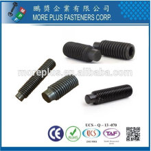 Taiwan Stainless Steel DIN915 ISO4028 car toy motorcycle wheel with dog point Hexagon socket set screws