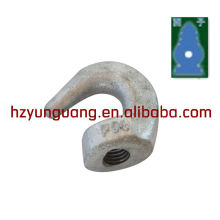 electric power Line hardware construction fitting hot dip galvanlized crane lifting hook forging steel hook hardware cargo hook