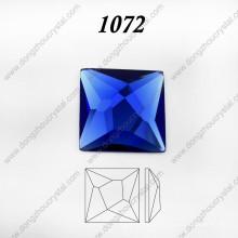 Jóia de cristal de vidro quadrada Pedra de cristal para acessórios da colar