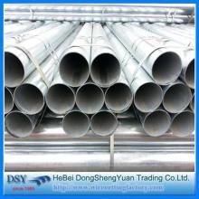 Material de construcción Tubo de acero redondo