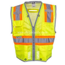 Unisex High Visibility Green Pocketed Vest