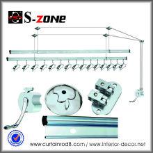 China OEM wholesale hanging lifting aluminium folding clothes drying rack