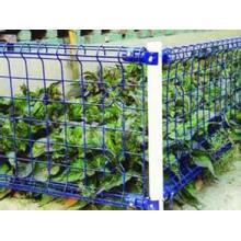 Umweltfreundlicher doppelter Schleifen-Zaun für Garten