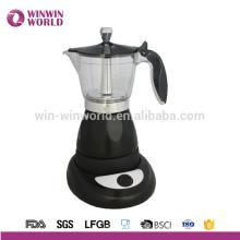 Amazon Hotselling Aço Inoxidável Fogão de InduçãoTop Espresso Cafeteira Moka Pot - 4, 6 Taça (6 Taça)