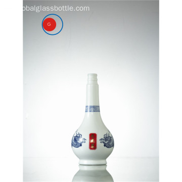 Botella de licor de porcelana de pintura china