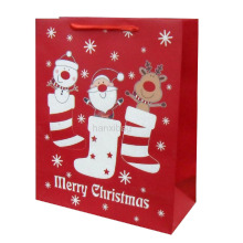 Embalagem de papel promocional Christmas Gift Bag Wholesale