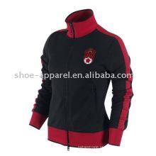 Mulheres jaqueta de futebol de jaqueta de trilha / jaqueta de inverno