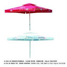 Parapluie de patio de double couche de 3.5X3.5m coupe-vent (YSBEA0029)