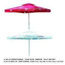 3.5X3.5m Windproof Square Double Layer Patio Umbrella (YSBEA0029)